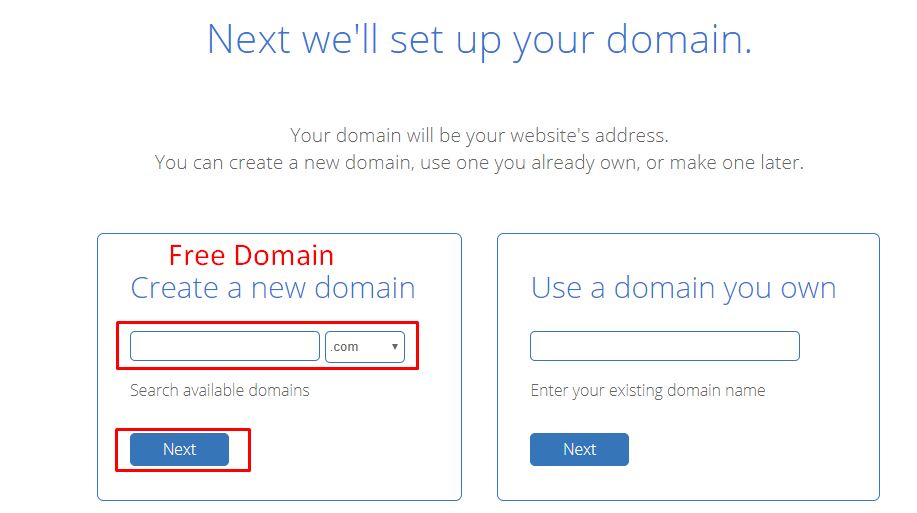 Get Free Domain from BlueHost