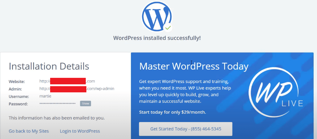 Save WordPress Login Username and password