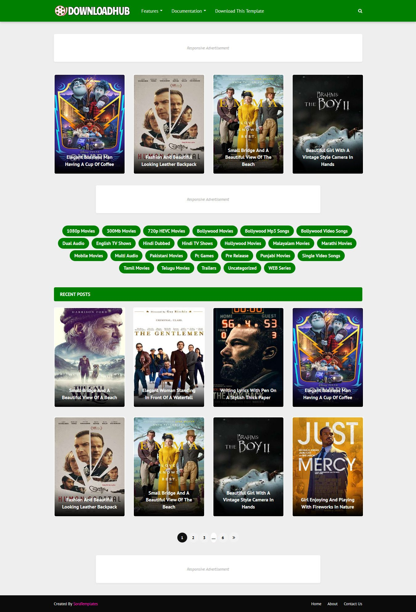 DownloadHub Movie Blogger Template