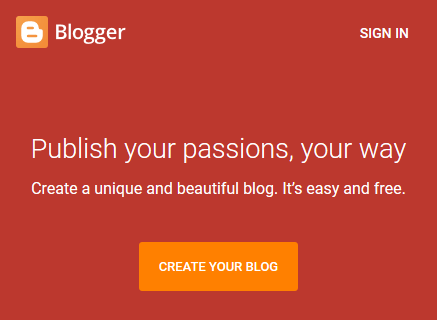 Open Blogger.com and Click on Signin Button