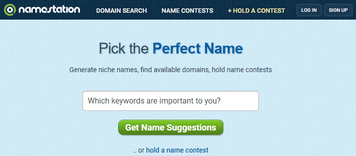 Pick the Perfect Domain Name NameStation Tool