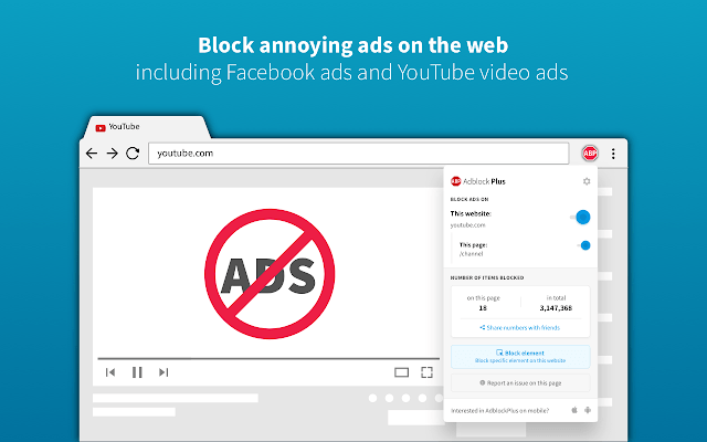 Adblock Plus Chrome Extension for Blogger