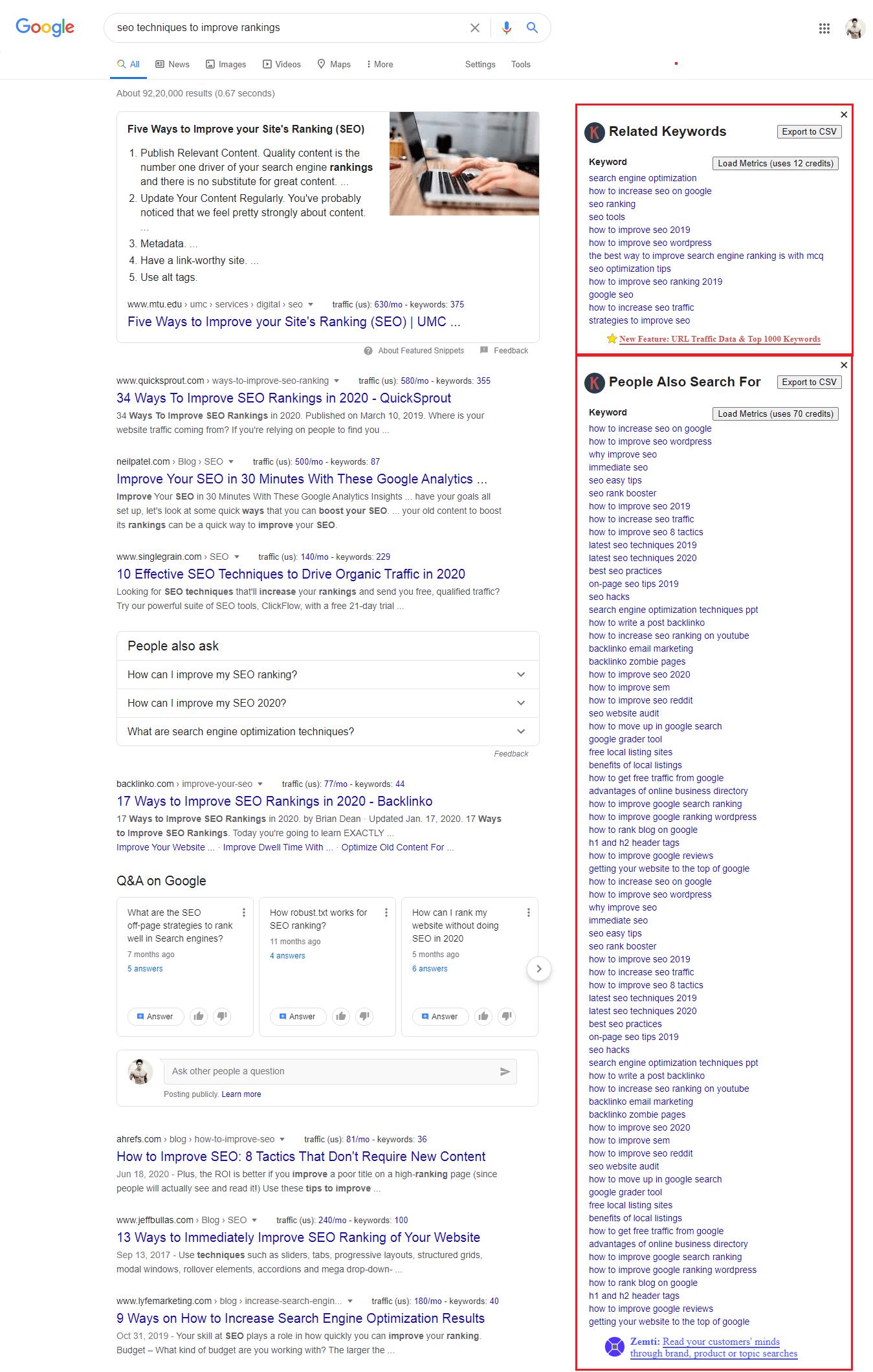 Keywords Everywhere Chrome Extension Tool